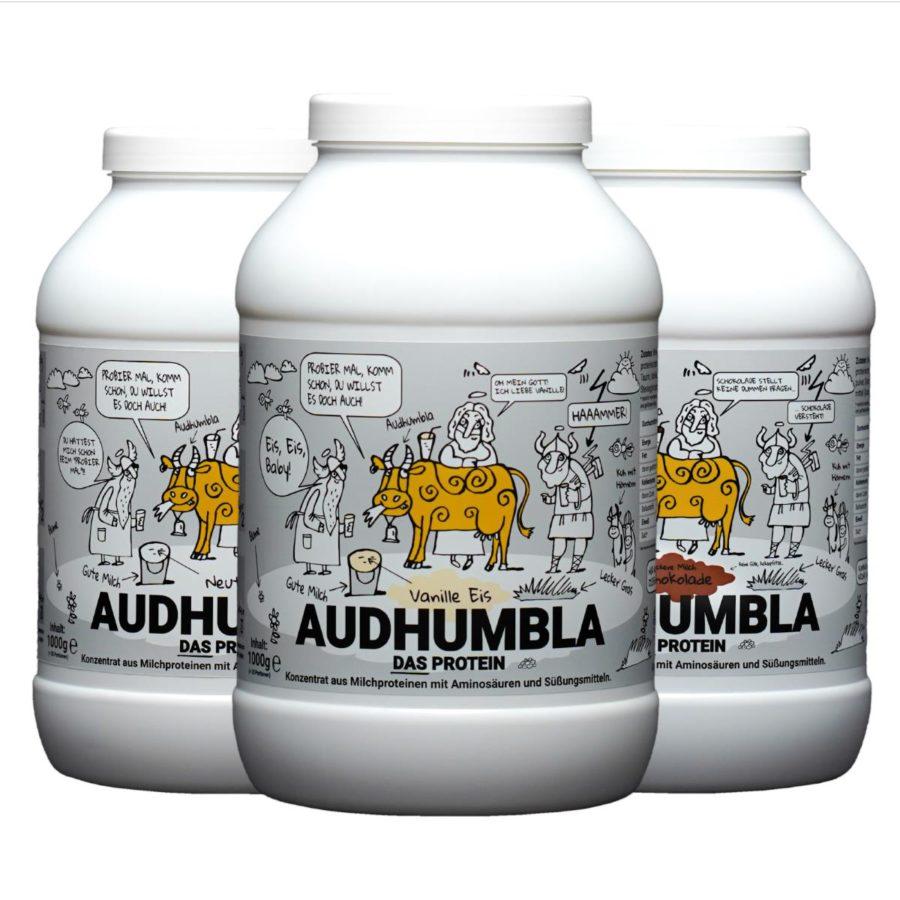 Audhumbla DAS Protein von Götterspeise Nahrungsergänzungsmittel Bio Protein Bioland Proteinpulver